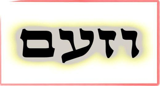 """תורת הקבלה: ע""""ב שמות. משמעות צרוף האותיות- ו.ז.ע.ם"""