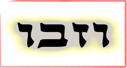 """תורת הקבלה: ע""""ב שמות. משמעות צרוף האותיות- ו.ז.ב.ו"""