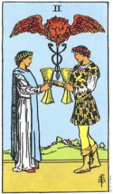 משמעות קלף שני גביעים בקריאה בקלפים