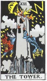 משמעות קלף המגדל הבוער בקריאה בקלפים