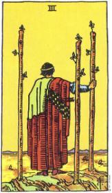 משמעות קלף שלושת המטות בקריאה בקלפים