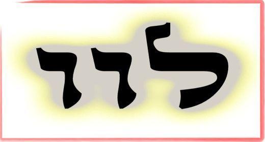 """תורת הקבלה: ע""""ב שמות. משמעות צרוף האותיות- ל.ו.ו"""