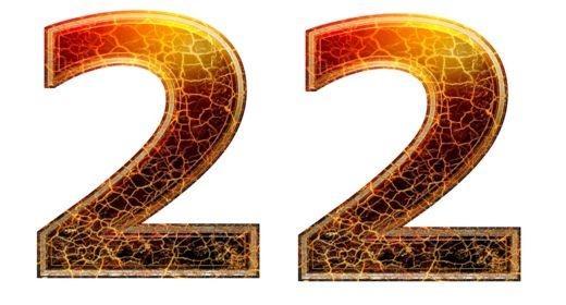 התאמה נומרולוגית למספרי 22